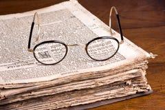 Livro germânico velho Foto de Stock Royalty Free