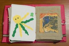 Livro Handmade Fotos de Stock