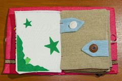 Livro Handmade Imagens de Stock