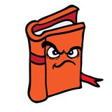 Livro irritado Fotografia de Stock