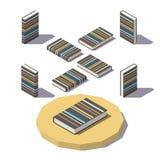 Livro isométrico da cópia da listra Fotografia de Stock
