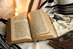 Livro judaico velho Fotografia de Stock Royalty Free