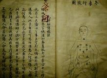 Livro médico velho chinês Imagens de Stock