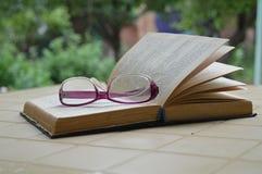 Livro na casa de campo Imagem de Stock