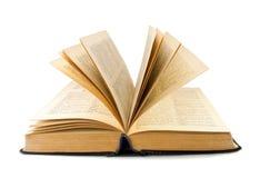 Livro no fundo branco foto de stock
