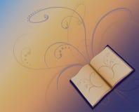 Livro no fundo colorido Imagens de Stock