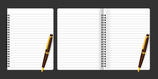Livro-nota ilustração stock