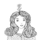 Livro para colorir da fantasia do florista ilustração stock