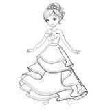 Livro para colorir da princesa da beleza Fotos de Stock Royalty Free