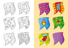 Livro para colorir de bandeiras do Natal Ilustração do Vetor