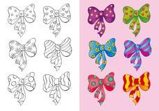 Livro para colorir de curvas diferentes do grupo Ilustração Stock