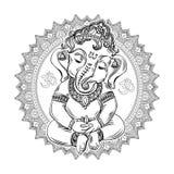 Livro para colorir de Ganesha para adultos Imagem de Stock Royalty Free