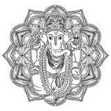Livro para colorir de Ganesha para adultos Foto de Stock