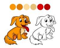 Livro para colorir do cão ilustração royalty free