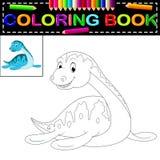 Livro para colorir do dinossauro Imagem de Stock