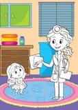Livro para colorir do doutor Showing Raio X Imagem Ilustração do Vetor