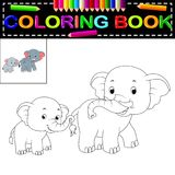 Livro para colorir do elefante Imagem de Stock
