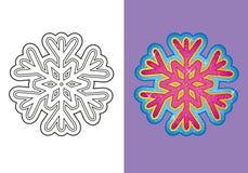 Livro para colorir do floco de neve do Natal Ilustração Royalty Free