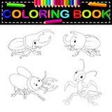 Livro para colorir do inseto ilustração royalty free