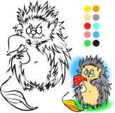 Livro para colorir do ouriço Fotografia de Stock Royalty Free