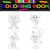 Livro para colorir do palhaço ilustração do vetor