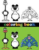Livro para colorir dos animais Foto de Stock Royalty Free