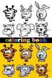 Livro para colorir dos animais Imagem de Stock Royalty Free
