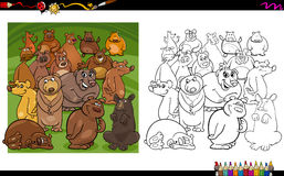 Livro para colorir dos caráteres do urso Fotos de Stock