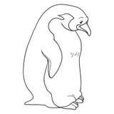 Livro para colorir (pinguim) ilustração royalty free