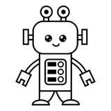 Livro para colorir, robô ilustração royalty free