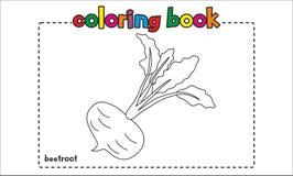 Livro para colorir simples das beterrabas para crianças e crianças Foto de Stock Royalty Free