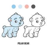 Livro para colorir, urso polar ilustração stock