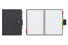 Livro pessoal do diário ou do organizador com páginas vazias rendição 3d Imagens de Stock Royalty Free