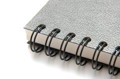 Livro preto do ligamento do anel Fotografia de Stock
