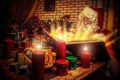 Livro Santa Fotografia de Stock Royalty Free