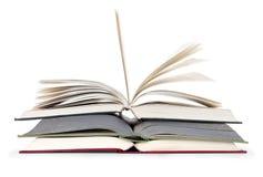 Livro três aberto Imagens de Stock Royalty Free