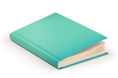 Livro vazio do aqua da capa dura - trajeto de grampeamento Imagens de Stock Royalty Free