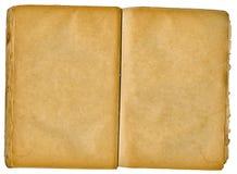Livro velho aberto em ambas as páginas em branco. Fotografia de Stock Royalty Free