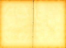 Livro velho aberto em ambas as páginas em branco (varredura). Fotos de Stock Royalty Free