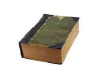 Livro velho com o hardcover desgastado de pano Fotografia de Stock