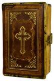 Livro velho com uma cruz foto de stock royalty free