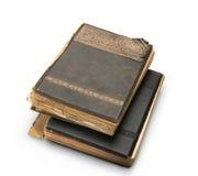 Livro velho com uma gravura. Fotos de Stock
