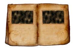 Livro velho da foto Foto de Stock Royalty Free