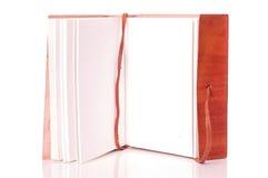 Livro de couro velho Imagem de Stock