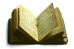 Livro velho do hino Imagem de Stock