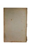 Livro velho do memorando para revelar amarelar, placa, alinhada Imagem de Stock