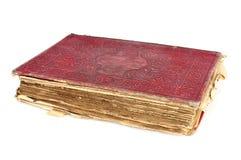 Livro velho exausto em um fundo branco Foto de Stock Royalty Free