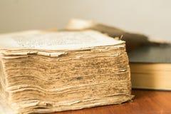 Livro velho gospel eslavo velho imagem de stock
