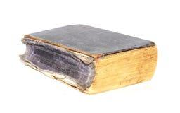 Livro velho isolado no branco Fotos de Stock Royalty Free