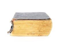 Livro velho isolado no branco Imagens de Stock